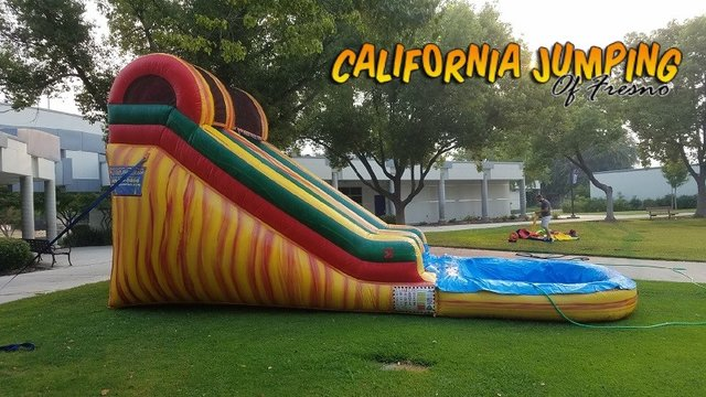 16' Fire Marble Water Slide