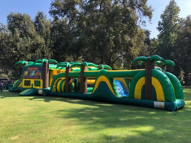 75 Foot Tropical Obstacle Course