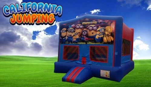 Minions #1 Bounce House (red/blue) w/Basketball Hoop