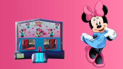 Minnie Mouse Bounce House w/Basketball Hoop