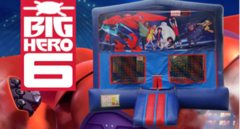 Big Hero 6 Bounce House (red/blue) w/Basketball Hoop