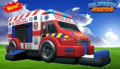 New for 2020 (Dry Only)Ambulance Bounce House Combo Best Seller