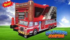 New for 2020  (Dry Only)Fire Station Bounce House Combo Best Seller