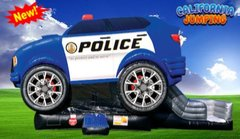 New for 2020  (Dry Only)Police Car Bounce House Combo Best Seller