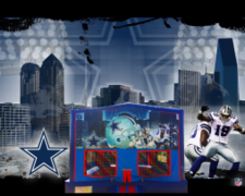 Dallas Cowboys Bounce House (red/blue) w/Basketball Hoop