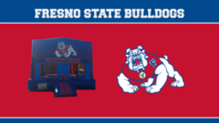 Fresno State Bounce House (red/blue) w/Basketball Hoop