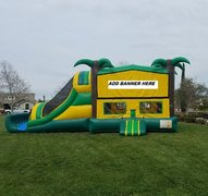 Bounce Combo House (Dry Only)Frozen Tropical 4 in 1 Bounce House Combo (Dry Only)