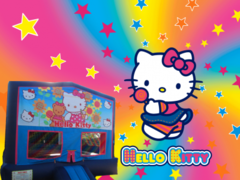 Hello Kitty Bounce House (pink/purple) w/Basketball Hoop