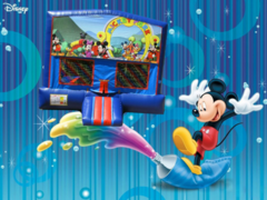 Mickey Mouse Bounce House #1 (red/blue) w/Basketball Hoop