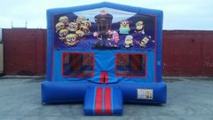 Despicable Me  Bounce House (red/blue) w/Basketball Hoop