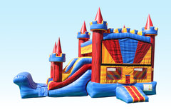 Multi Color Combo (Dry Only)Bounce House with SlidePerfect for Backyard Parties!!!!
