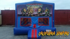 Ninja Turtles Bounce House (red/blue) w/Basketball Hoop