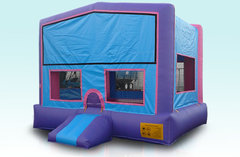 15 x 15 Pink and Purple Bounce House w/Basketball Hoop