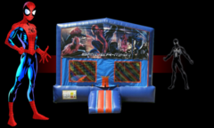 Spiderman Bounce House (red/blue) w/Basketball Hoop