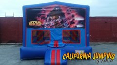 Star Wars Bounce House (red/blue) w/Basketball Hoop