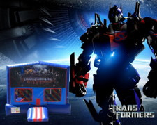 Transformers Bounce House (red/blue) w/Basketball Hoop