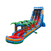 29ft Dual Lane Tropical Fireball with Slip n Slide