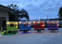 Holiday Lighted Trackless Train