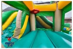 Tropical Combo Slide Bouncer