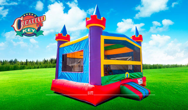 Castle Bounce House with Basketball Hoop