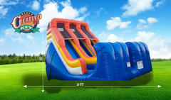 18ft Giant Slide - OKC Colors