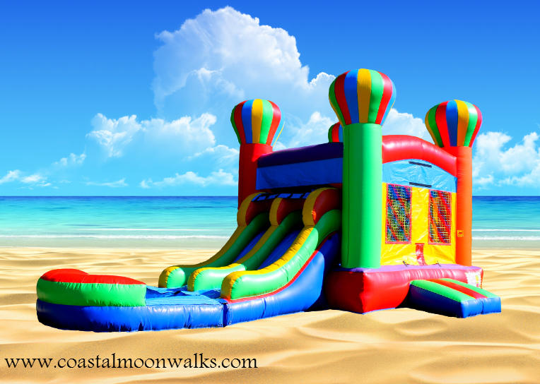 balloon bounce house water slide
