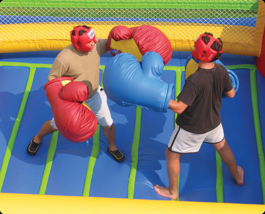 inflatable bounce house boxing