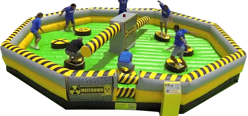 Toxic Meltdown Interactive inflatable game in Jacksonville Florida