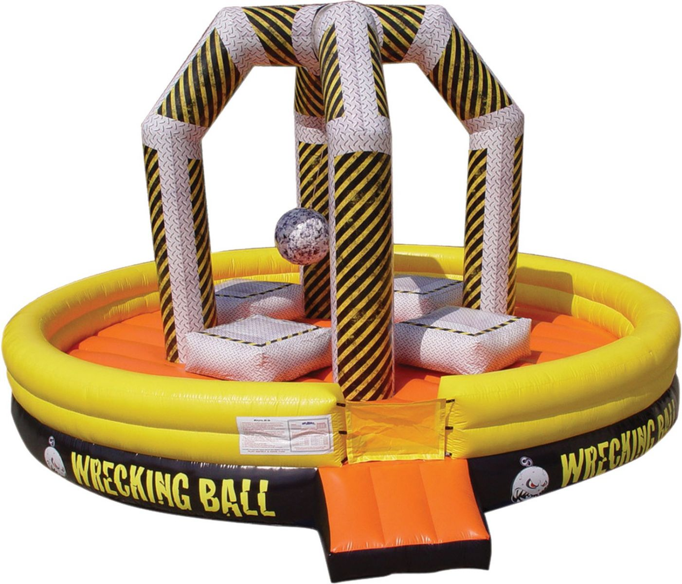 wrecking ball inflatable bounce house rental jacksonville florida