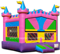 Pink Castle Bounce House M107
