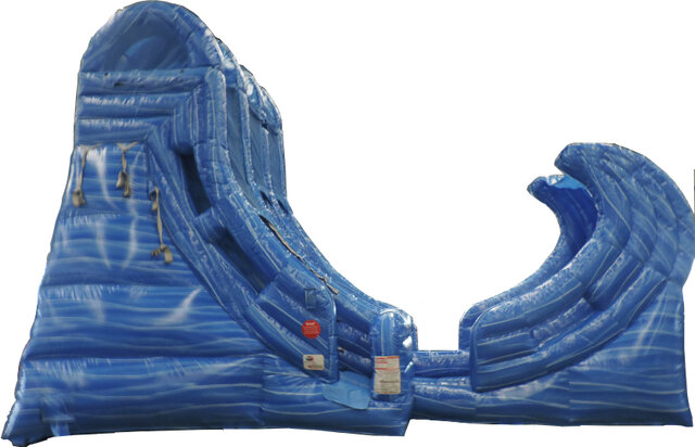 19' Big Wave Dual Lane Slide Wet Inflatable Slide