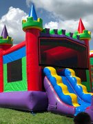 Rainbow Castle Combo Bouncer Dry