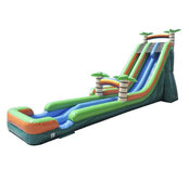 27' Paradise Splash Dual Lane Inflatable Water Slide