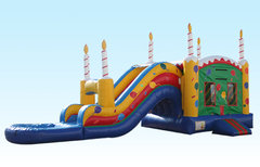 Birthday Cake Combo Bouncer Wet