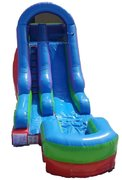 15' Tall Retro Rainbow Dry Inflatable Slide