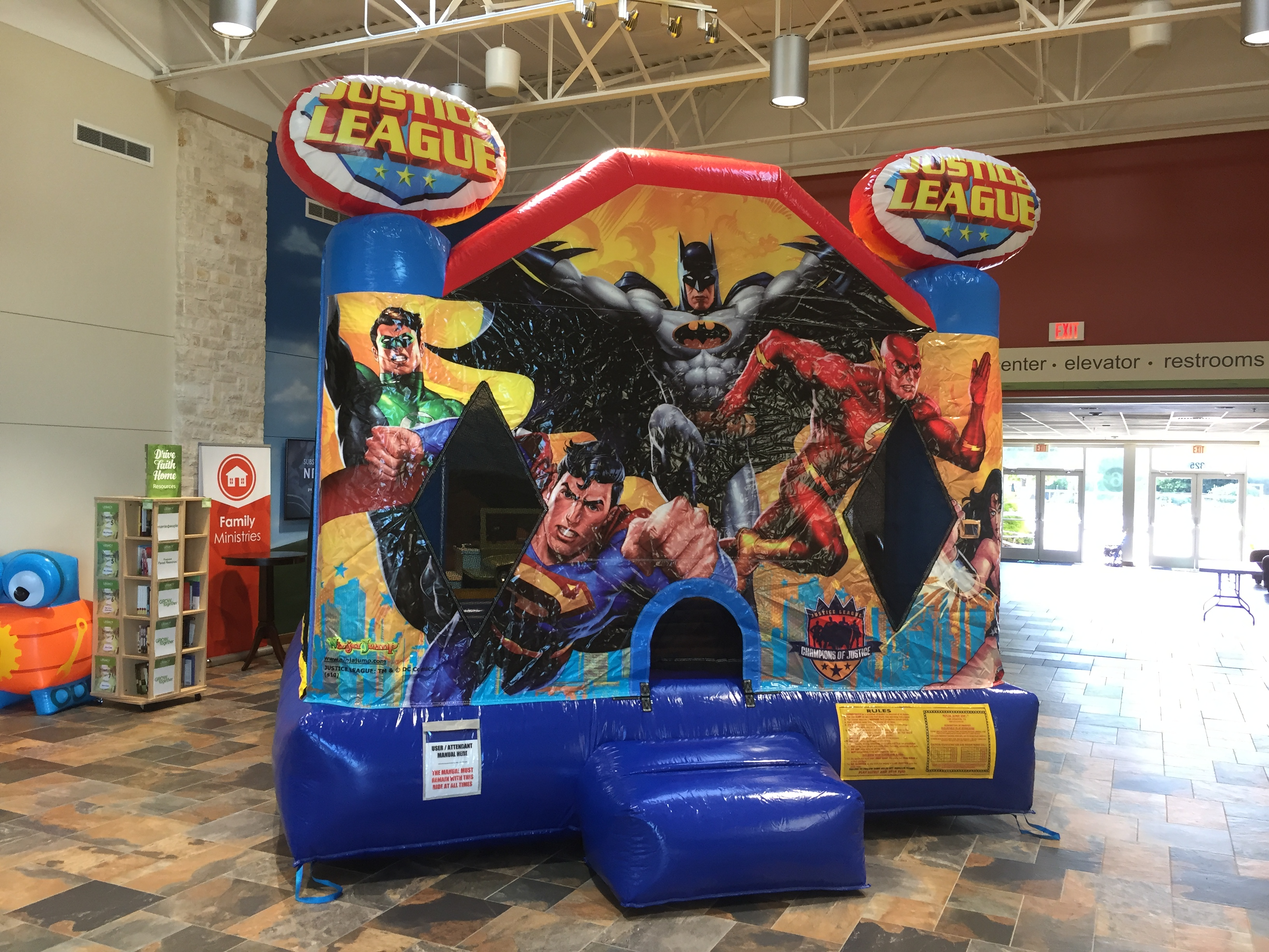 justice league bounce house rental cleburne