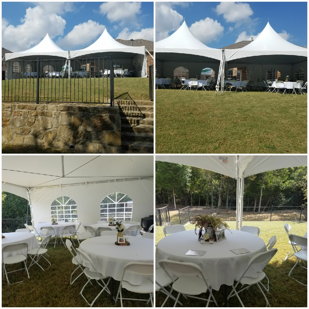wedding tent, tables, chairs cleburne