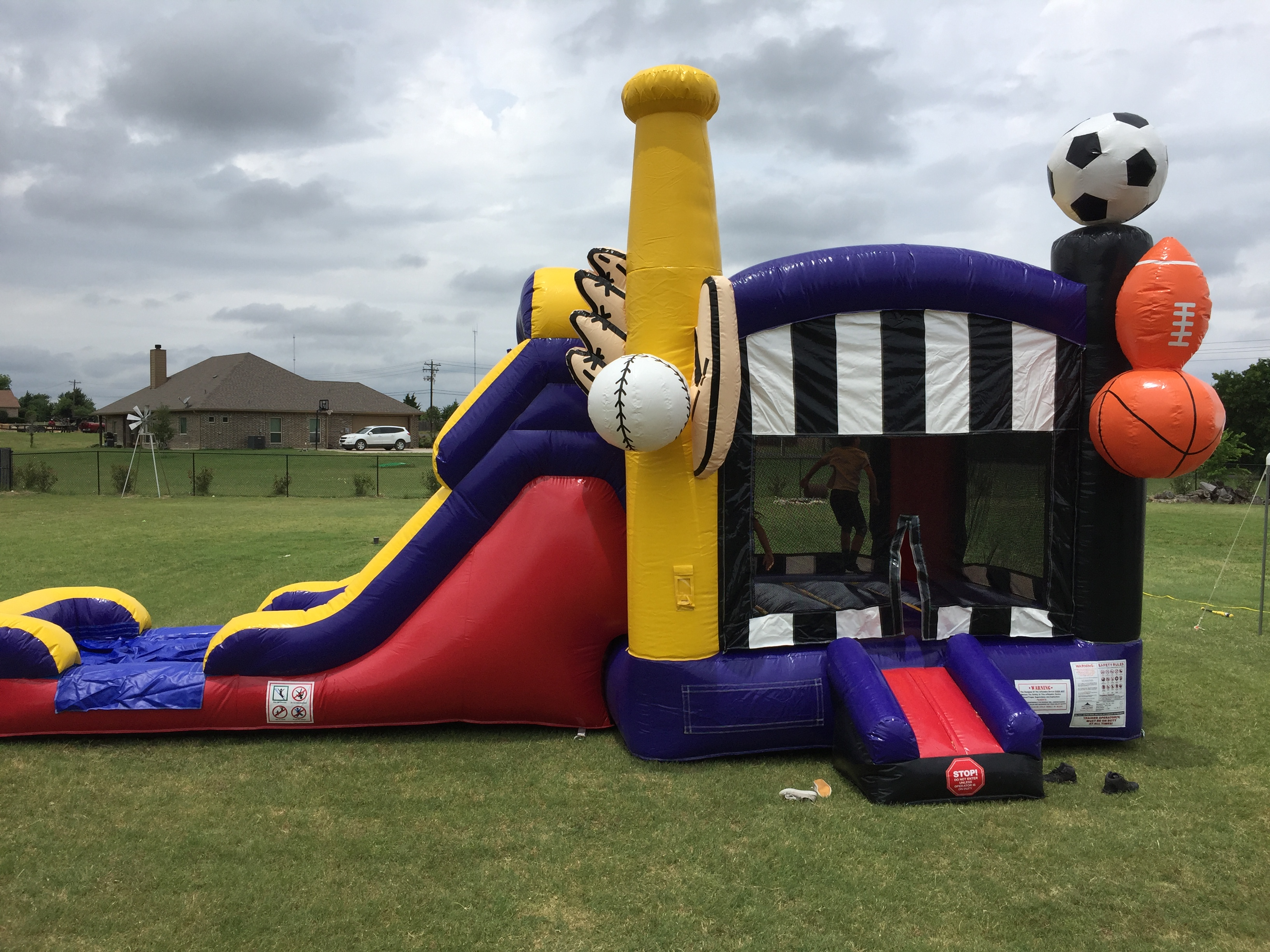 midlothian texas bounce house with slide rentals