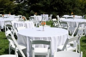 table and chair rentals in Mansfield