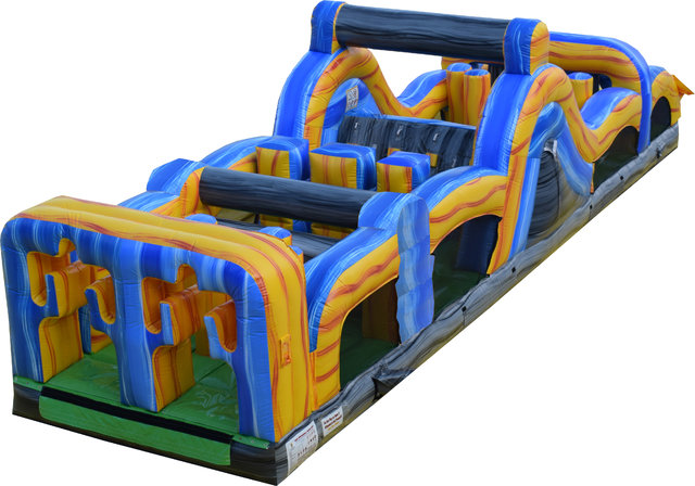 40 Ft Radical Run Obstacle Course Cowboy Party Rentals