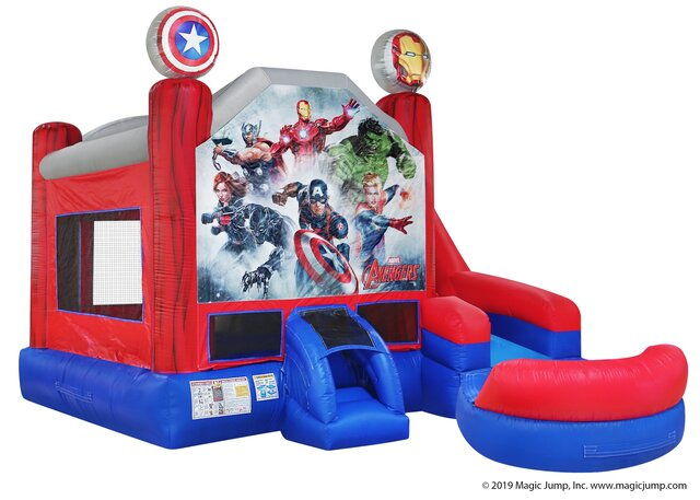 Wet Marvel Avengers Bounce House Combo