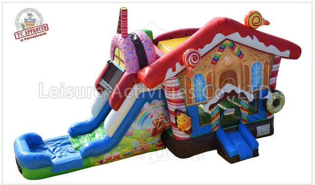 Wet Candy Land Bounce House Combo