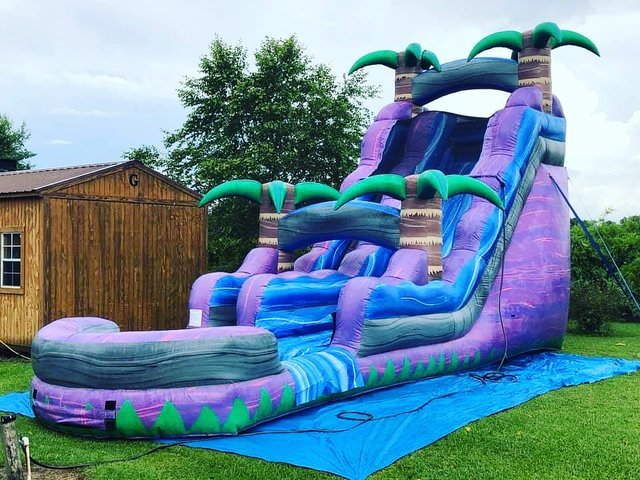 Wet 20 ft Purple Crush Water Slide with Pool