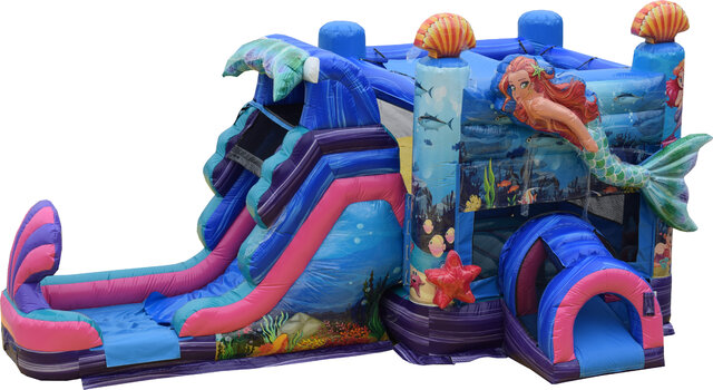 Wet Mermaid Bounce House Combo