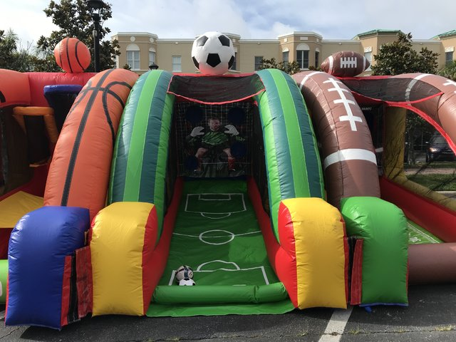 Soccer Challenge Inflatable Game