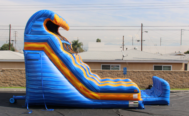 Dry 20 ft Fire and Ice Dual Lane Slide