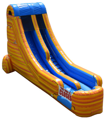 Wet 20 Ft Yellow Splash Water Slide