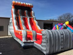 Dry 24 ft Volcano Rush Slide with Stopper