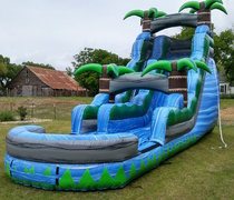 Wet 20 ft Blue Crush Slide with Pool