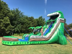 Wet 24 ft Emerald Crush Water Slide with Pool